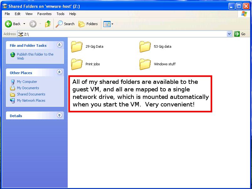 vm player shared folder